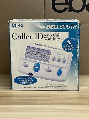 Bellsouth Caller ID with Call Waiting CI-43 90 Name Memory Open Box in Packaging