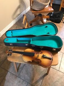 Starter violin and case