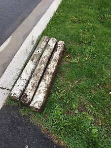Free edging stones 3ft long by 4in wide