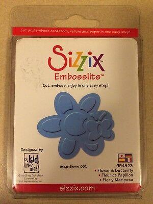 NEW! Retired Sizzix Embosslits Die- Flower & Butterfly #654823