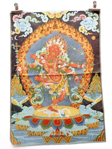 Tibet Collectable Silk Hand Painted Immortal Thangka