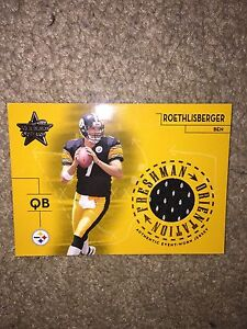 Ben Rothlisberger Football card with game piece jersey  Cambridge Kitchener Area image 1