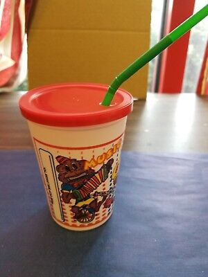 (250 CUPS) KID'S SIPPY 12 OUNCE PLASTIC CUPS COMBO WITH LIDS/STRAWS