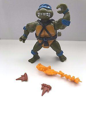 1990 TMNT TEENAGE MUTANT NINJA TURTLE SWORD SLICING LEONARDO WIND-UP - Leonardo Ninja Turtle Sword