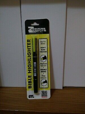 Zebrite Bible Highlighter Double Ended Yellow