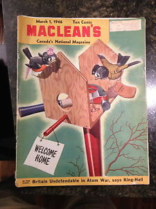 March 1946 Issue of Maclean's Magazine