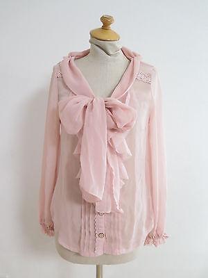 LIZ LISA Pink Blouse Lolita Hime Gyaru shibuya109 Very Cute (b109)