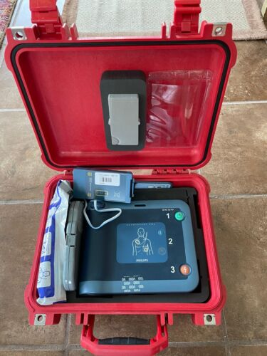 PHILIPS HEARTSTART FR2+ AED DEFIBRILLATOR, Tested & Works