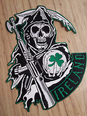 Sons Of Anarchy Patches (Sons Of Anarchy Ireland Full Size Rocker & Jacket Patches Biker Gang FX TV)