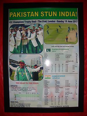 Pakistan 2017 ICC Champions Trophy winners - framed print