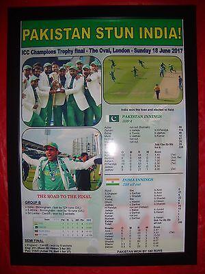 Pakistan 2017 ICC Champions Trophy winners - framed print