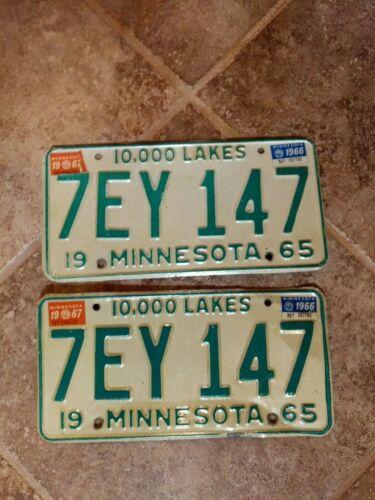 1965 MN License Plates