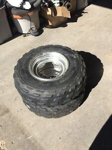 Atv front rims and tires 22 x 7 - 10