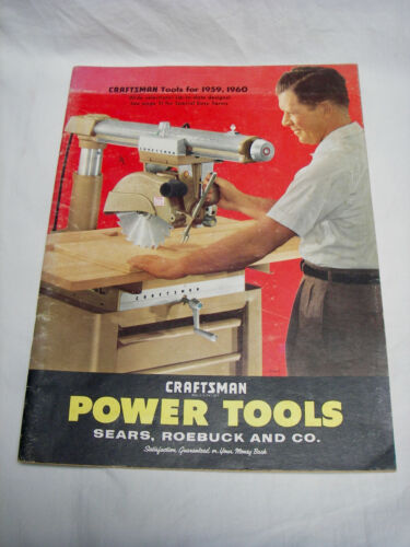 Vintage Sears Craftsman Power Tool Catalog 1959, 1960 52 Pages Original