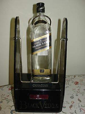 "Vintage Collectible ""BLACK VELVET"" Whisky Bar Clock  1981'"