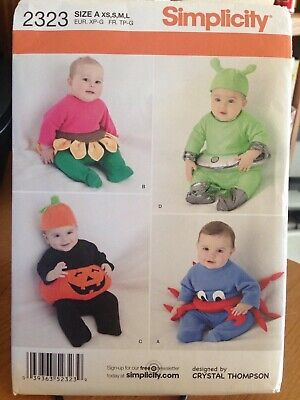 BABIES' COSTUMES Alien, Crab, 2 more - Uncut Sewing PATTERN Simplicity - Crab Baby Costume