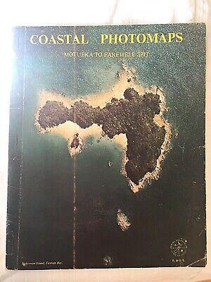 Vtg COASTAL PHOTOMAPS Motueka Farewell Spit Tasman Bay Arial Survey Book of Maps