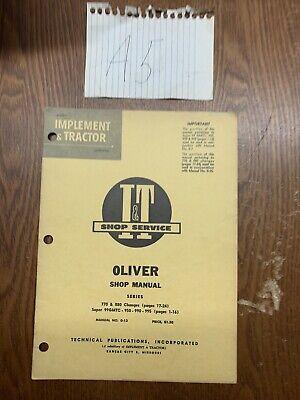 It Oliver 99 950 990 995 770 880 Shop Manual O-13