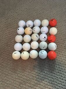 25 Golf Balls, Driver and Child's Putter