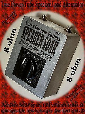 8 ohm up to 60w Speaker Soak Guitar Amp Power Tube Brake/Load/Mass Attenuator