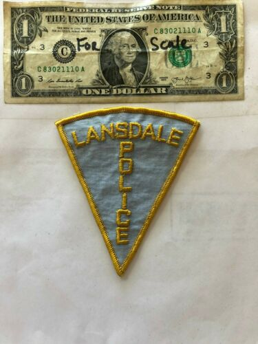 Lansdale Pennsylvania Police Patch un-sewn in good shape