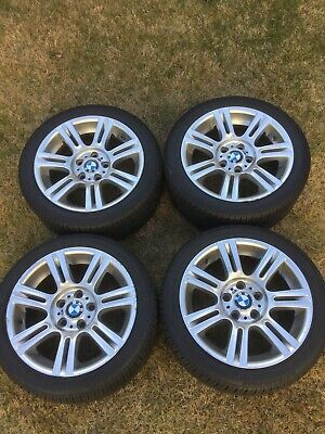 """BMW OEM 17"""" wheels OFFSET 8 and 8.5 with Run Flat Tires"""