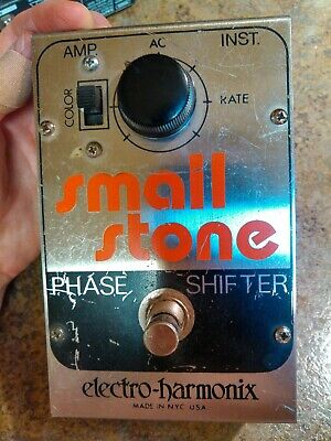 Electro Harmonix Small Stone Phase Shifter Rare Vintage Guitar Effect Pedal