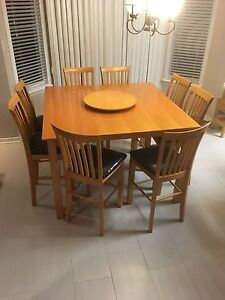 Nice maple table.  Sits 8 people.  Must go.