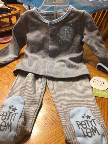Petit Lem Baby Boy Cars Little Cutie 6M Long Sleeve Shirt &