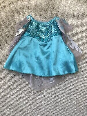 Build A Bear Disney Frozen Elsa Blue Sequin Dress