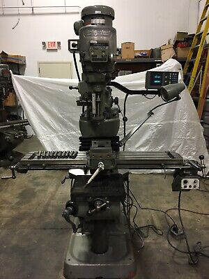 Bridgeport Series 1 2hp Milling Machine Acu Rite Dro 48inch Table W Power Feed