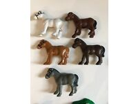 Lincoln Logs Replacement Parts Bull Sherif horses lot figures blue water white