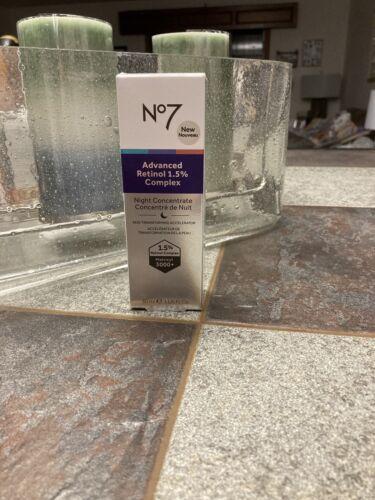 No7 Advanced Retinol 1.5% Complex Night Concentrate 1oz  NEW