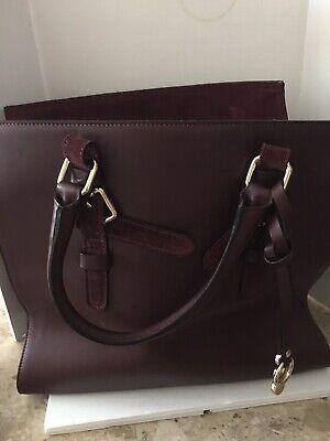 A. Bellucci Italian Wine/Burgundy Leather & Suede Handbag Never Used