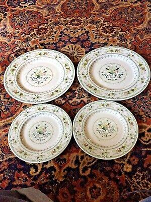 "4 Pcs - Noblewoman DOULTON PROVENCAL PLATES 2 -10 1/2"" DINNER, 2 - 8"" SALAD ENGLAND"