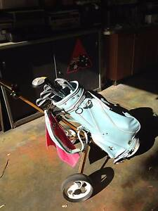 Ladies pale blue golf buggy and clubs City Beach Cambridge Area Preview