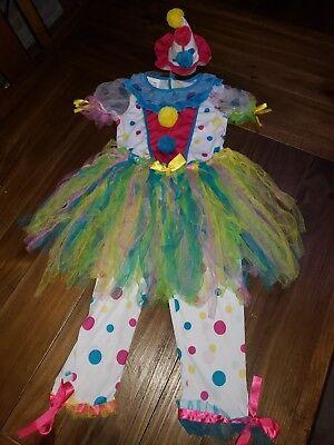 Rare California Costume rainbow clown girls size small cute tutu hat Halloween - Clown Tutu