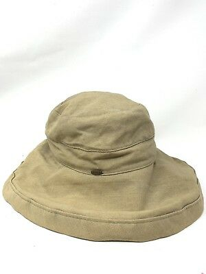 Scala Hat Mens Fisherman Cotton Canvas Round Wide Brim E1