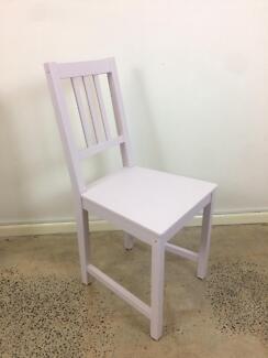 Light pink vintage chair
