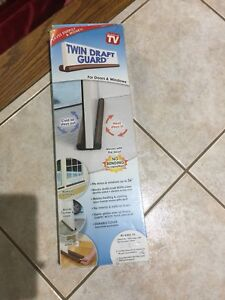 Twin Draft Guard for Doors and Windows