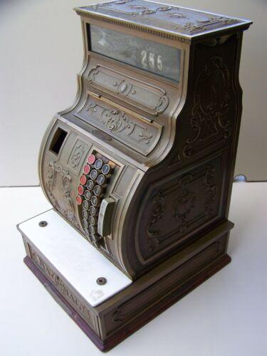 1920 Antique National Brass Cash Register - Vintage Model 1038 - Works