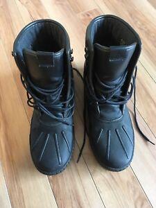 Black snow boots, man, size 9.5