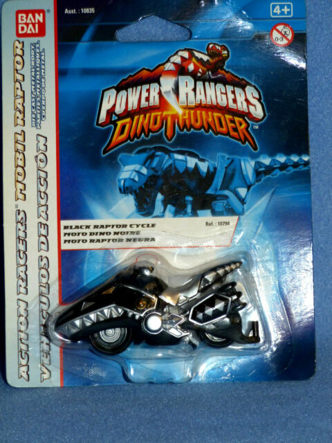 POWER RANGERS DINO THUNDER BLACK RAPTOR CYCLE NEW DIECAST