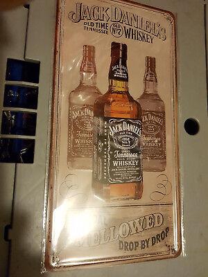 cooles Jack Daniels-Blechschild, ca 16x30cm, Neu & OVP