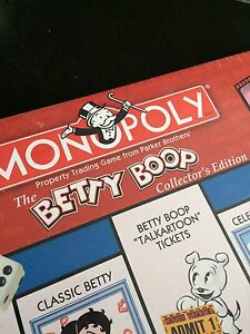 Betty Boop Collectors Edition Monopoly Cambridge Kitchener Area image 2