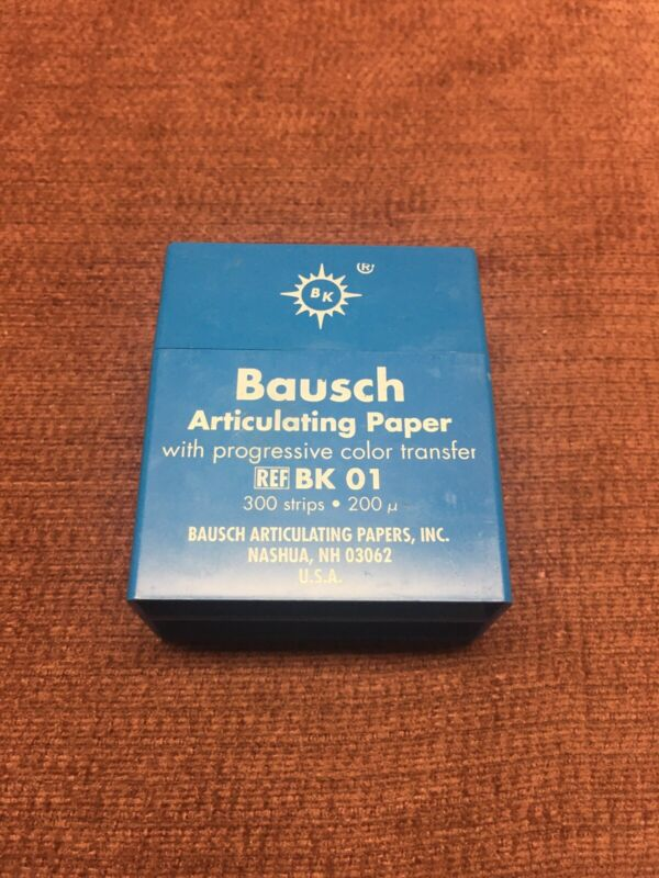 """Bausch BK01 Articulating Paper Strips .008"""" 200 Microns Blue Open"""