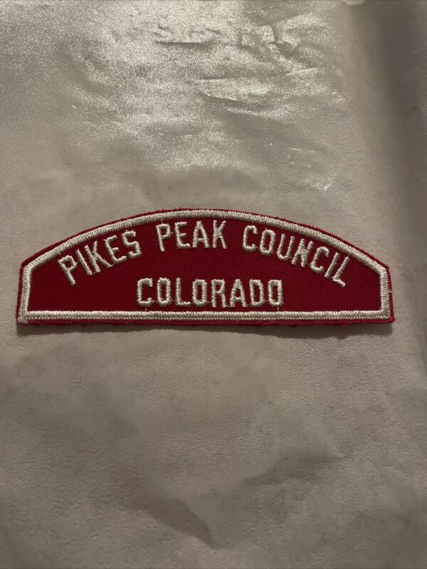 Pikes Peak Council Colorado RWS red and white Council strip Vintage
