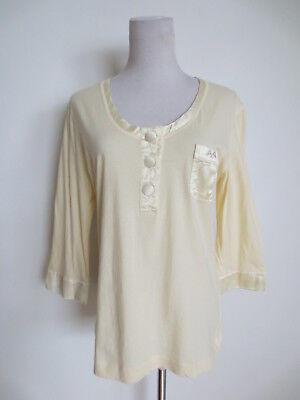Thomas Burberry Oberteil Shirt vom Schlafanzug Pyjama XL ca 40 creme /0C2