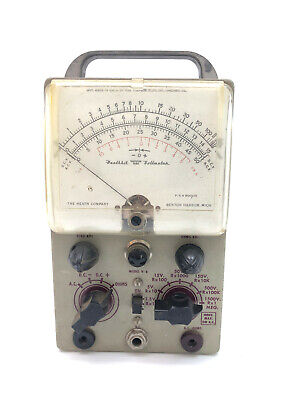Voltmeter Vtg Heathkit Vacuum Tube Gray Metal Volt Reader Tester Meter Model V-6