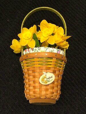 Longaberger May series Miniature Daffodil Basket